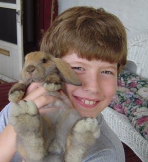 Zak's pet rabbit Yoshi